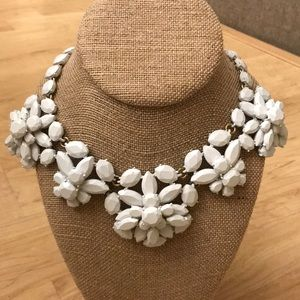 White hot J.Crew statement necklace